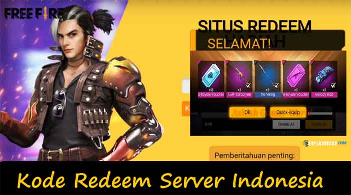The Latest Indonesian Ff Server Redeem Code Is Still Active 2020
